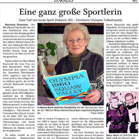 Sonja-Sperl-Dolejsch-Zeitungsbericht