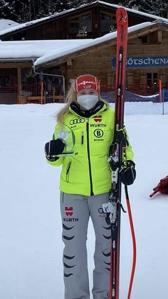 Anna Schillinger vom SWC Regensburg gab am Wochenende ihr Debut beim Damen-Weltcup.