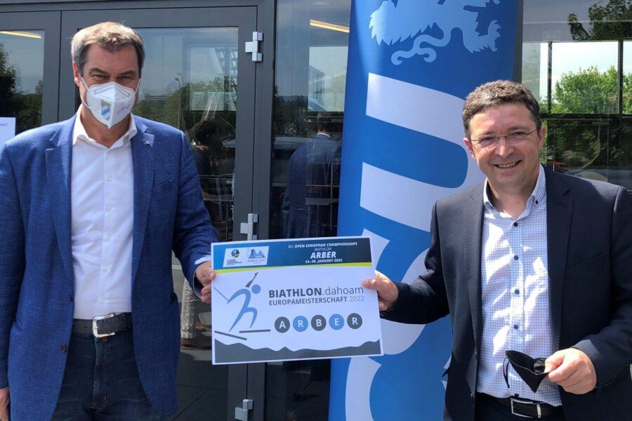 Große Ehre für Biathlon EM 2022 am Großen Arbersee